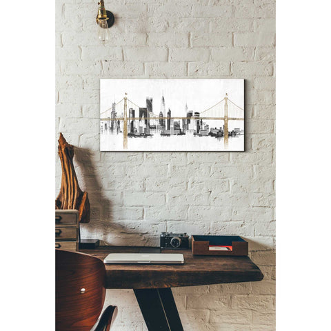 "Image of ""Bridge And Skyline"" by Avery Tillmon, Giclee Canvas Wall Art"