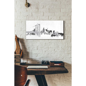 """Skyline Crossing Silver"" by Avery Tillmon, Giclee Canvas Wall Art"