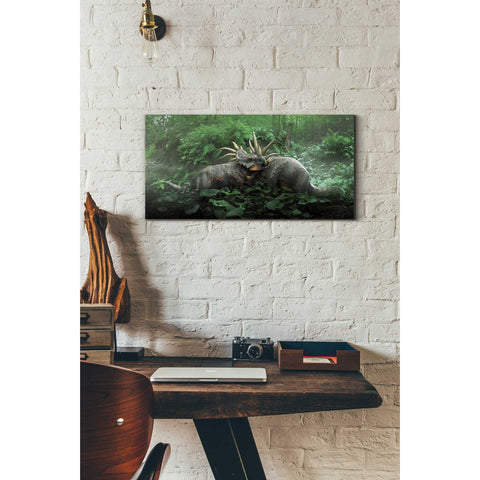 "Image of ""Dueling Styracosaurus"" Giclee Canvas Wall Art"