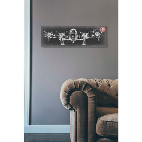 'Aeronautic Collection F' by Ethan Harper Giclee Canvas Wall Art