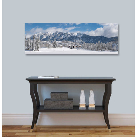 Image of 'Colorado Winter Wonderland' by Darren White, Canvas Wall Art,12 x 36