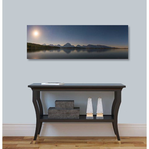 "Image of ""Jackson Lake Moon"" by Darren White, Giclee Canvas Wall Art"