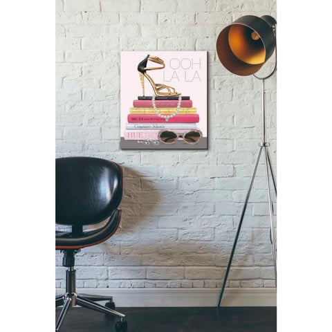 Image of 'Paris Style I Gold and Black' by Marco Fabiano, Giclee Canvas Wall Art