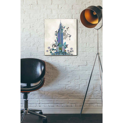 Image of 'New York Empire State Building, Menagerie' by Fab Funky Giclee Canvas Wall Art