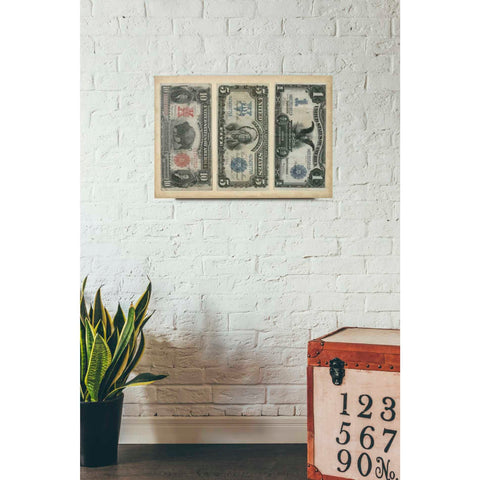 'Antique Currency VI' by Vision Studio Giclee Canvas Wall Art