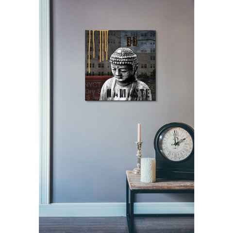 'Urban Buddha III' by Linda Woods, Canvas Wall Art,18 x 18