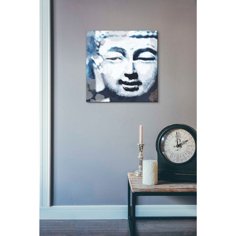 'Peaceful Buddha II' by Linda Woods, Canvas Wall Art,18 x 18