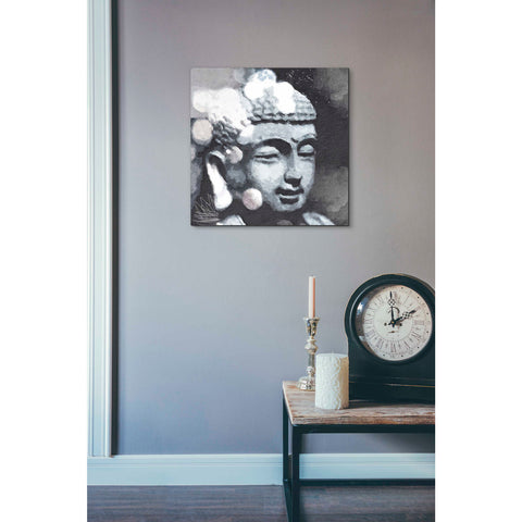 'Peaceful Buddha III' by Linda Woods, Canvas Wall Art,18 x 18