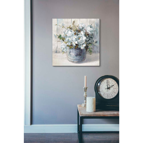 Image of 'Garden Blooms I Blue Crop' by Danhui Nai, Canvas Wall Art,18 x 18