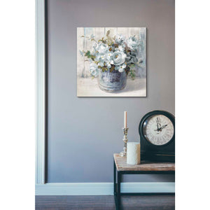 'Garden Blooms I Blue Crop' by Danhui Nai, Canvas Wall Art,18 x 18