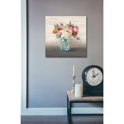 Image of 'French Cottage Bouquet II Mothers' by Danhui Nai, Canvas Wall Art,18 x 18