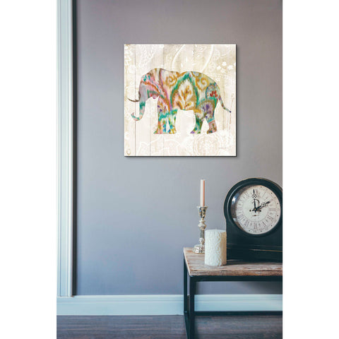 Image of 'Boho Paisley Elephant II v2' by Danhui Nai, Canvas Wall Art,18 x 18