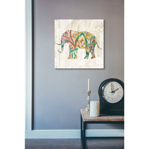 'Boho Paisley Elephant II v2' by Danhui Nai, Canvas Wall Art,18 x 18