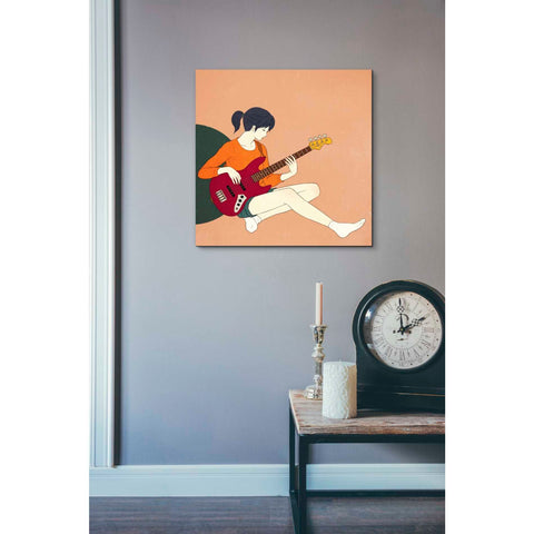 'Playing The Bass' by Sai Tamiya, Giclee Canvas Wall Art