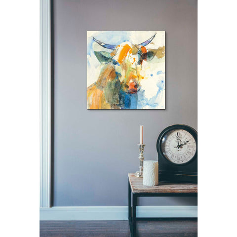 Image of 'Happy Cows I' by Albena Hristova, Canvas Wall Art,18 x 18
