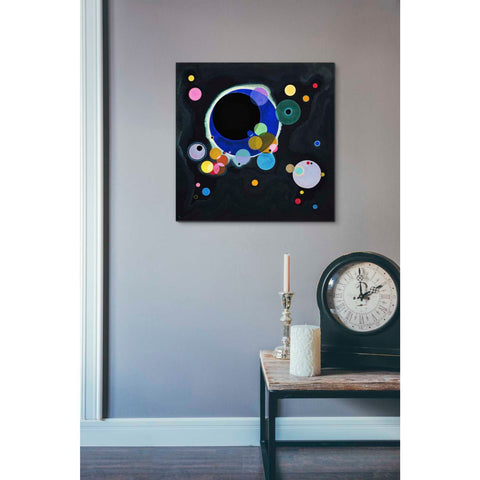 Image of 'Several Circles' by Wassily Kandinsky Canvas Wall Art,18 x 18