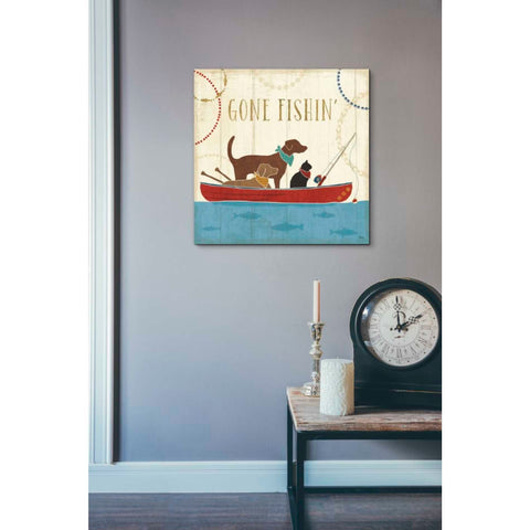 'Lake Pals III' by Veronique Charron, Giclee Canvas Wall Art