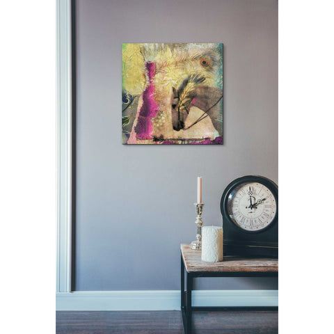 Image of 'White Horse' by Elena Ray Canvas Wall Art,18 x 18