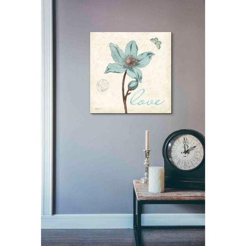 'Touch of Blue IV - Love' by Katie Pertiet, Giclee Canvas Wall Art