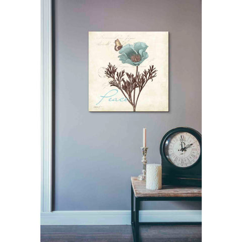 'Touch of Blue I - Peace' by Katie Pertiet, Giclee Canvas Wall Art
