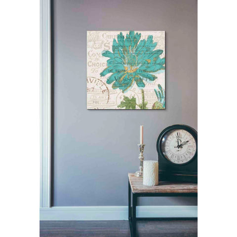 Image of 'Bookshelf Botanical IV' by Katie Pertiet, Giclee Canvas Wall Art