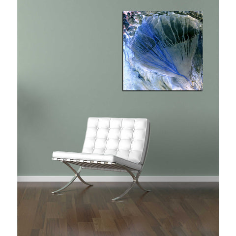 'Earth As Art: Alluvial Fan' Acrylic Wall Art,18 x 18