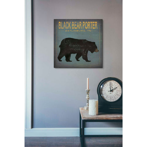 'Black Bear Porter' by Ryan Fowler, Giclee Canvas Wall Art