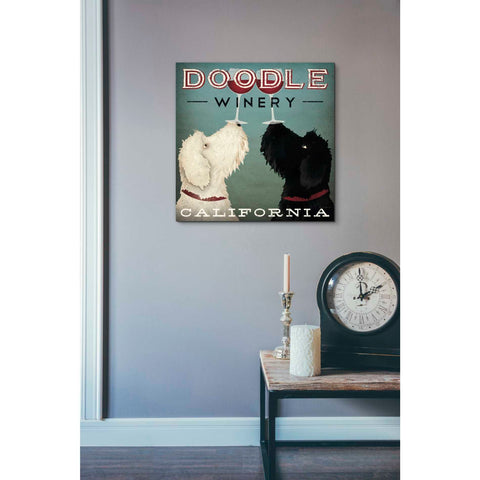 'Doodle Wine' by Ryan Fowler, Giclee Canvas Wall Art