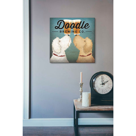 'Doodle Beer Double' by Ryan Fowler, Giclee Canvas Wall Art