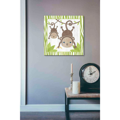 'Safari Fun Monkey' by Moira Hershey, Giclee Canvas Wall Art