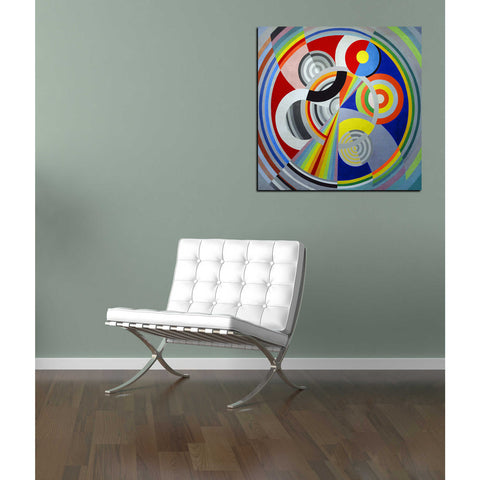 Image of 'Rythme n1' by Robert Delaunay Canvas Wall Art,18 x 18