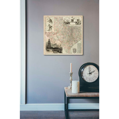 'Map of Texas' by Vision Studio Giclee Canvas Wall Art