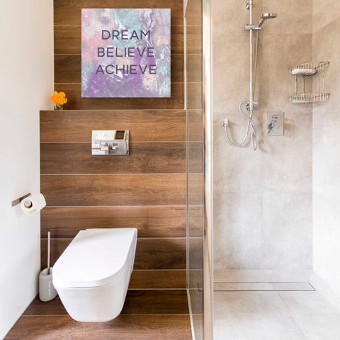 'Dream, Believe, Achieve' by Linda Woods, Canvas Wall Art,18 x 18