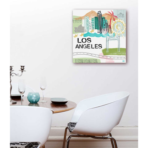 "Image of ""Los Angeles"" by Linda Woods, Giclee Canvas Wall Art"