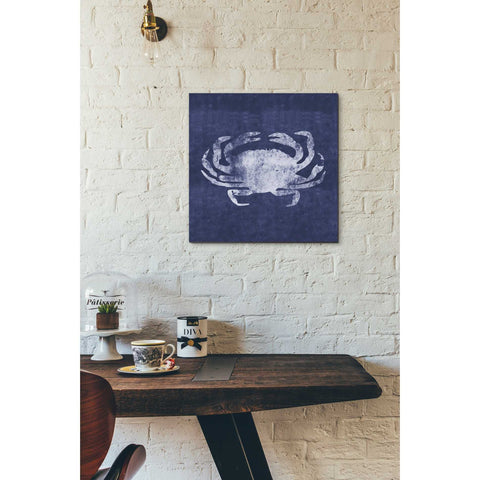 """Indigo Crab"" by Linda Woods, Giclee Canvas Wall Art"