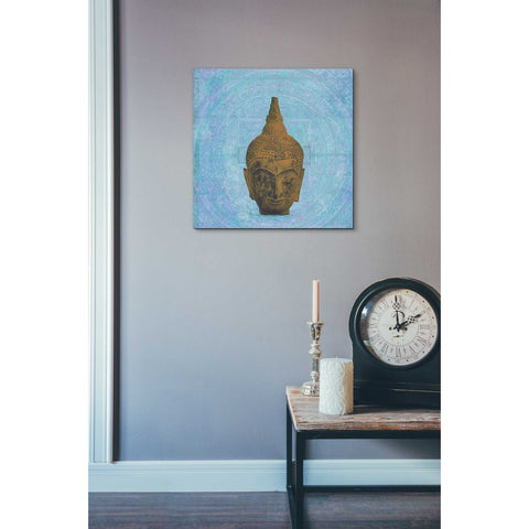'Buddha on Blue' by Elena Ray Canvas Wall Art,18 x 18
