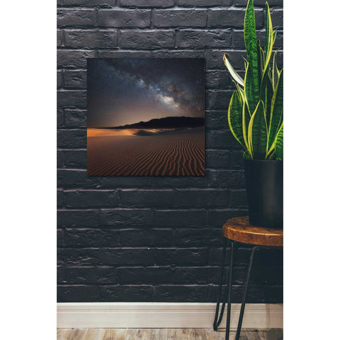 Image of 'Milky Way Over Mesquite Dunes' by Darren White, Canvas Wall Art,18 x 18