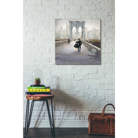 "Image of ""Bridge to NY V2"" by Julia Purinton, Giclee Canvas Wall Art"