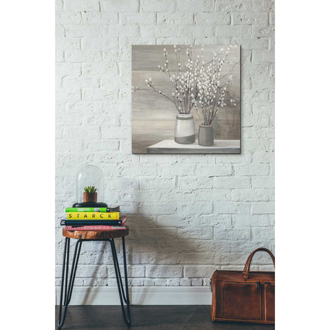 """Pussy Willow Still Life Gray Pots"" by Julia Purinton, Giclee Canvas Wall Art"