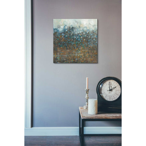 "Image of ""Blue And Bronze Dots"" by Danhui Nai, Giclee Canvas Wall Art"