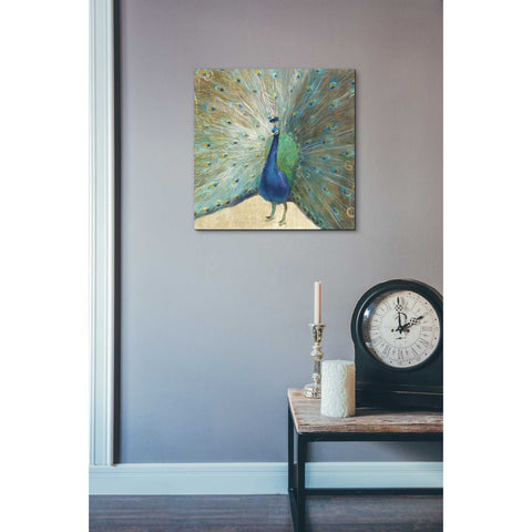 Image of 'Blue Peacock' by Danhui Nai, Canvas Wall Art,18 x 18