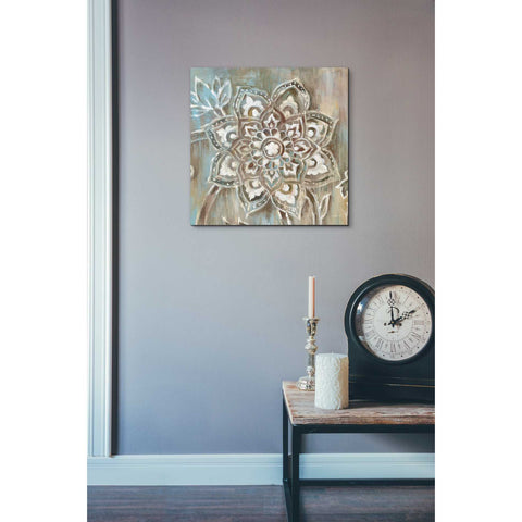Image of 'Henna II Blue' by Danhui Nai, Canvas Wall Art,18 x 18