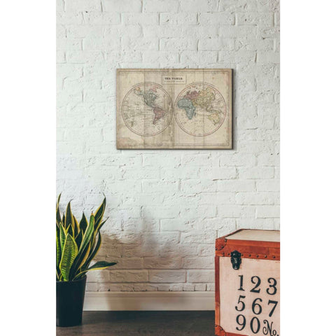 Image of 'Old World Eastern Western' by Wild Apple Portfolio, Giclee Canvas Wall Art