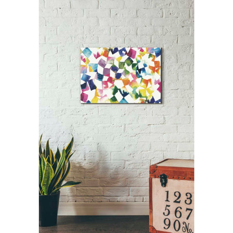 'Colorful Cubes' by Wild Apple Portfolio, Canvas Wall Art,18 x 26