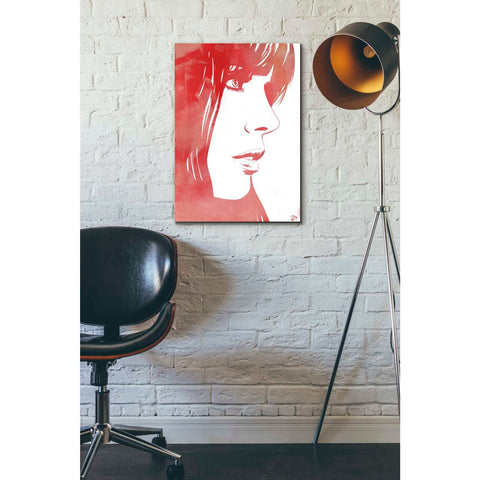 Image of 'Portrait in Red' by Giuseppe Cristiano, Giclee Canvas Wall Art