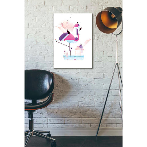 'Placido Flamingo' by Antony Squizzato, Giclee Canvas Wall Art