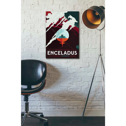 """Visions of the Future: Enceladus"" Giclee Canvas Wall Art"