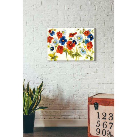 'Independent Blooms I' by Shirley Novak, Giclee Canvas Wall Art