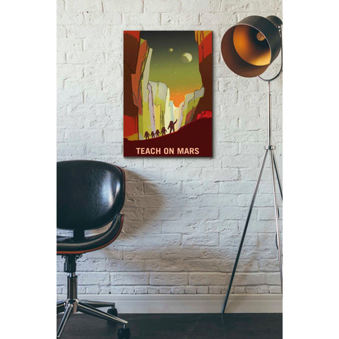 """Mars Explorer Series: Teach on Mars"" Space Giclee Canvas Wall Art"