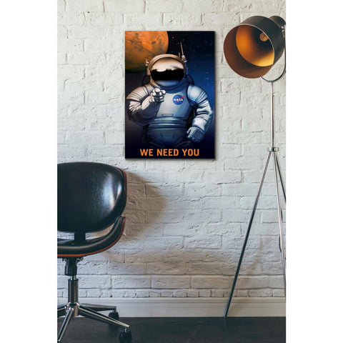 """Mars Explorer Series: We Need You"" Giclee Canvas Wall Art"